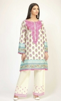EMBROIDERED LAWN PRINT SHIRT 3.0m - EMBROIDERED SHALWAR 2.5m