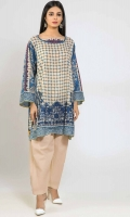 Front & Sleeve Lawn Print Embroidered 2.0m - Back Lawn Printed 1.25m - Shalwar 2.5m