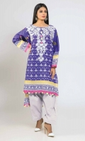 Front Lawn Print Embroidered 1.25m - Back & Sleeve Lawn Printed 2.0m - Shalwar 2.5m