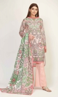 Front Lawn Printed 1.25m - Back Lawn Printed 1.25m - Sleeve Lawn Printed 0.5m - Lawn Printed Dupatta 2.5m - Shalwar 2.5m