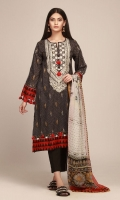 Embroidered Lawn Print Shirt 3.25m Chiffon Printed Dupatta 2.5m Shalwar 2.5m