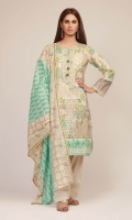 Front Lawn Printed 1.25m Back & Sleeve Lawn Printed 2.0m Lawn Printed Dupatta 2.5m Embroidered Patti