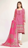Front Lawn Printed 1.25m Back Lawn Printed 1.25m Sleeve Lawn Printed 0.5m Lawn Printed Dupatta 2.5m