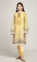 Front Lawn Print Embroidered 1.25m Back & Sleeve Lawn Printed 2.0m Embroidered Shalwar 2.5m