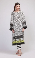 Front & Sleeve Lawn Printed 2.0m Back Lawn Printed 1.25m Shalwar 2.5m Embroidered Patti