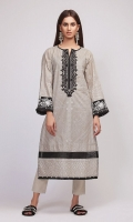 Front & Back Lawn Print Embroidered 2.5m Sleeve Lawn Printed 0.75m Shalwar 2.5m Embroidered Patti