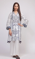 Front Lawn Printed 1.25m Back & Sleeve Lawn Printed 2.0m Shalwar 2.5m Embroidered Patti