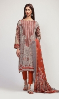 Front Lawn Printed 1.25m Back Lawn Printed 1.25m Sleeve Lawn Printed 0.5m Lawn Printed Dupatta 2.5m Shalwar 2.5m