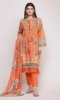 Front Lawn Printed 1.25m Back Lawn Printed 1.25m Sleeve Lawn Printed 0.5m Chiffon Printed Dupatta 2.5m Shalwar 2.5m