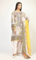 Embroidered Lawn Print Shirt 3.25m Lawn Printed Dupatta 2.5m Shalwar 2.5m