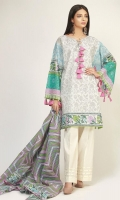 Front & Sleeve Lawn Printed 2.0m Back Lawn Printed 1.25m Printed Lawn Dupatta 2.5m