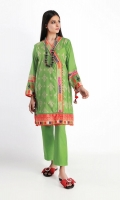 Front & Back Lawn Printed 2.5m Sleeve Lawn Printed 0.5m Shalwar 2.5m