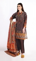 Front Lawn Printed 1.25m Back Lawn Printed 1.25m Sleeves Lawn Printed 0.5m Lawn Printed Dupatta 2.5m Shalwar 2.5m