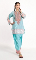 Front & Back Lawn Printed 2.5m Sleeve Lawn Print Embroidered 0.5m Embroidered Shalwar 2.5m