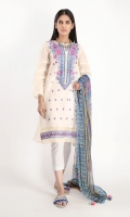 Textured Lawn Embroidered Shirt 3.25m Chiffon Printed Dupatta 2.5m