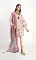 Schiffli Embroidered Cambric Kameez 3.5M Chiffon Printed Dupatta 2.5M Shalwar 2.5M