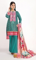 Front & Back Lawn Printed 2.5m Sleeves Lawn Printed 0.75m Lawn Printed Dupatta 2.5m Shalwar 2.5m Embroidered Gala