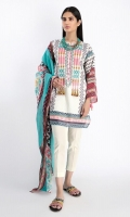 Front Lawn Print Embroidered 1.25m Back Lawn Printed 1.25m Sleeve Lawn Printed 0.75m Lawn Printed Dupatta 2.5m Shalwar 2.5m