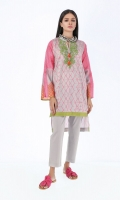 Front & Back Lawn Print Embroidered 2.5m Sleeve Lawn Printed 1.0m Shalwar 2.5m