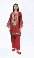 Front & Back Lawn Print Embroidered 2.5m Sleeve Lawn Printed 0.5m Shalwar 2.5m