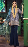 Digital Printed Lawn Shirt 3m Digital Printed Chiffon Dupatta 2.5m Lawn Shalwar 2.5m Embroidered Organza Gala