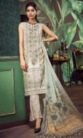 Embroidered Lawn Shirt 3m Printed Lawn Shalwar 2.5m Chiffon Dupatta 2.5m