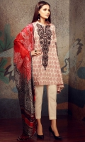 Embroidered Jacquard Shirt 2.5m Lawn Shalwar 2.5m Tissue Silk Dupatta 2.5m Embroidered Organza Fabric