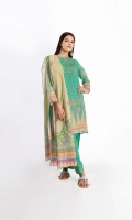 Lawn Printed Shirt 3.0M Lawn Printed Dupatta 2.5M Shalwar 2.5M