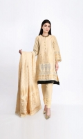 Gold Jacquard Embroidered Shirt 3.0M Gold Jacquard Dupatta 2.5M Shalwar 2.5M Gold Jacquard Patti