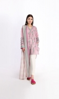 Front and Back Lawn Printed Shirt 2.5M Sleeves Lawn Printed 1.0M Lawn Printed Dupatta 2.5M