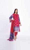 Lawn Printed Shirt 3.0m Chiffon Printed Dupatta 2.5m Shalwar 2.5m
