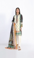 Embroidered Lawn Print Shirt 3.0m Lawn Printed Dupatta 2.5m Shalwar 2.5m