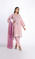 Front And Back Lawn Print Embroidered 2.5m Sleeves Lawn Printed 1.0m Lawn Printed Dupatta 2.5m Shalwar 2.5m