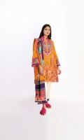 Embroidered Lawn Printed Shirt 3.0m Cotton Square Dupatta 2.5m Shalwar 2.5m