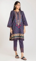 Cambric Print Embroidered Shirt 3.0m Shalwar 2.5m