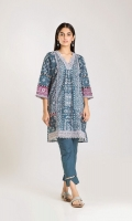 Front & Back Cambric Printed 2.5m Sleeve Cambric Printed 0.75m Shalwar 2.5m