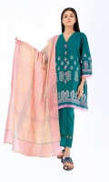 Jacquard Shirt 3.0m Jacquard Dupatta 2.5m Shalwar 2.5m