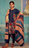 Embroidered Khaddar Shirt 3.25m  Khaddar Shalwar 2.5m  Printed Shawl 2.5m