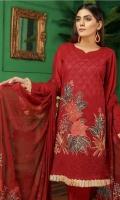 Embroidered Swiss Lawn Shirt Chiffon Printed Dupatta Dyed Trouser