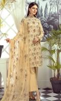 Embroidered Unstitch Three Pcs Suit
