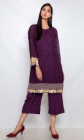 CHIFFON SHIRT, RAW SILK TROUSER-READY TO WEAR SHIRT+SLIP+TROUSER
