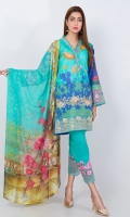 READY TO WEAR SHIRT LAWN SHIRT+CHIFFON DUPATTA+CAMBRIC TROUSER