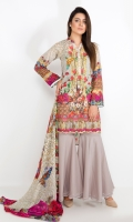 READY TO WEAR 2 PIECE (LAWN SHIRT+CHIFFON DUPATTA)