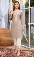 A traditional Straight fit lawn shirt with the so on trend sheesha embroidery (mock) on neckline, front and sleeves.