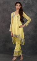 CHIFFON SHIRT, RAW SILK TROUSER -SHIRT + SLIP + TROUSER