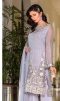 Embroidered Chiffon Shirt Embroidered Chiffon Dupatta Plain Trouser