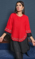 Embroidered Acrylic Free Size Poncho