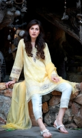 Shirt Front : Embroidered Trouser: Dyed Dupatta : Chiffon