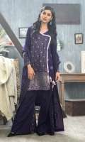 Shirt: Front: Embroidered/Dyed1.25 Meters Shirt: Back: Embroidered/Dyed1.25 Meters Dupatta: Printed2.5 Meters Sleeves: Embroidered/Dyed1 Pair Trouser: Dyed2.5 Meters Weight: 1.3 kg