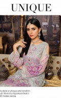Shirt Front : Heavy Embroidered & Hand Work Chiffon. Shirt Back : Embroidered Chiffon. Inner Shirt: Cotton Silk. Sleeves : Stylish Heavy Embroidered. Dupatta : Heavy Embroidered Chiffon. Trouser : Katan Raw Silk. Border : Organza Embroidered Border